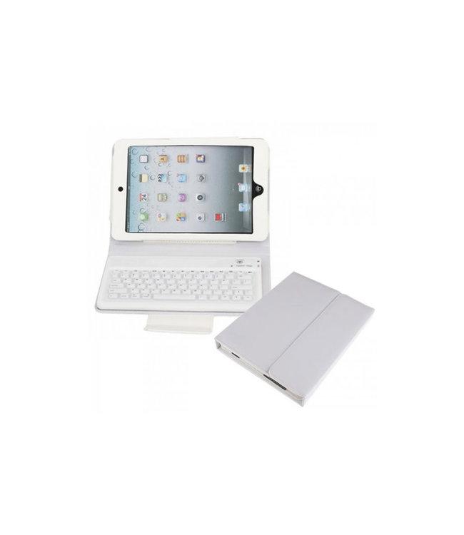 Clavier Bluetooth pour iPad mini 2/3/4, blanc avec étui