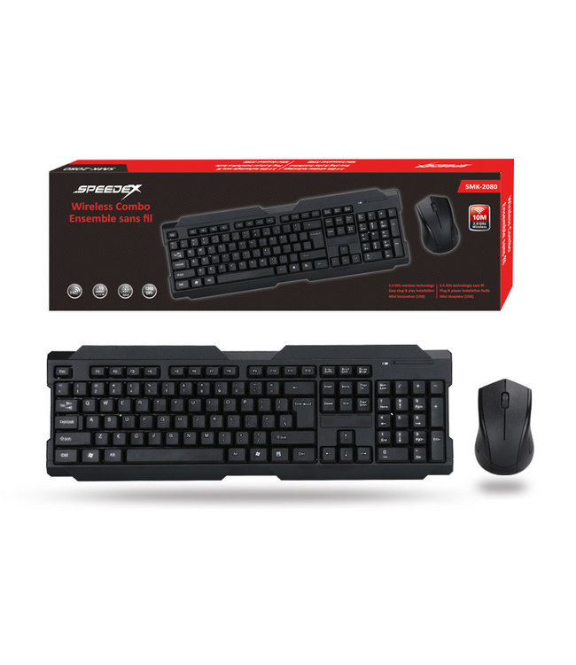 SPEEDEX Ensemble clavier/souris sans-fil Speeedex SMK-2080