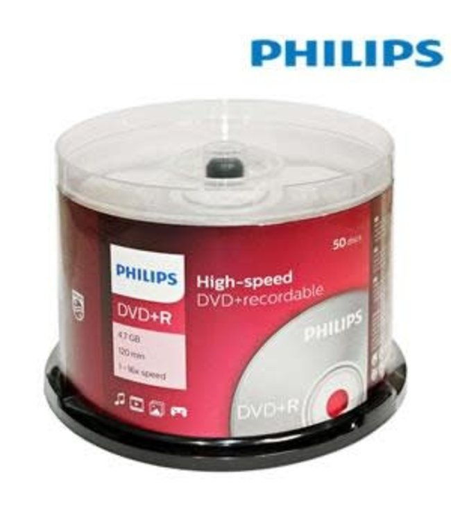 Philips 16X DVD-R 4.7GB 50pcs DM4S6B50F/17