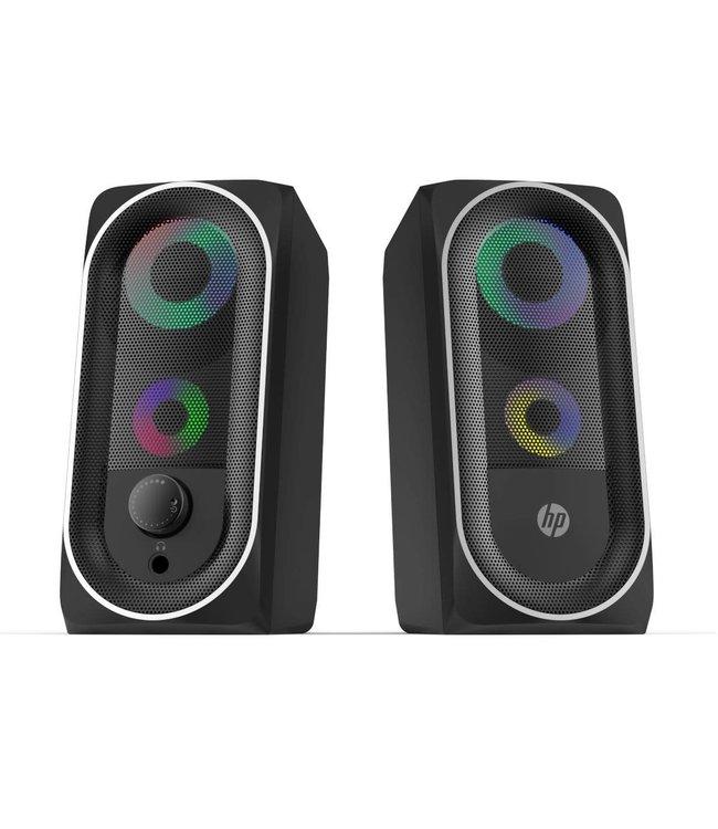 HP HP Haut-parleur stéréo 2.0 avec rétro-éclairage RGB, Bluetooth, prise 3.5 mm pour audio (DHE-6001)