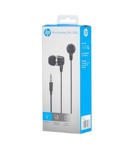 HP HP Écouteurs Stéréo intra-auriculaire avec contrôle du volume et micro, Noir (DHE-7000-BLACK)