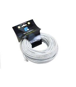 GlobalTone Câble réseau Ethernet Cat6, T568B, CCA, Blanc, 75 pi.