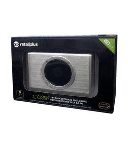 Retail Plus Boîtier pour disque dur externe 3.5 USB2.0 SATA Retail Plus CD391