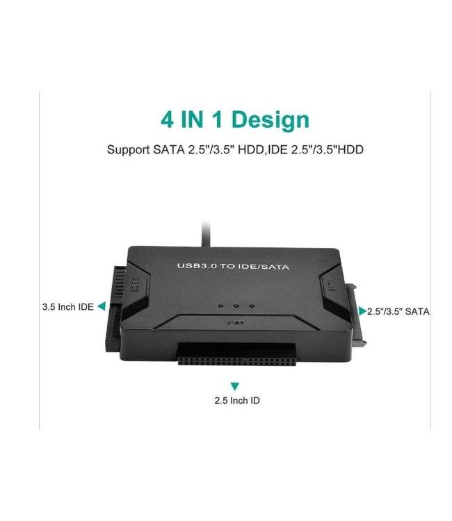 Cable adaptateur USB 3.0 vers 3.5 /2.5 IDE & 3.5/2.5 sata