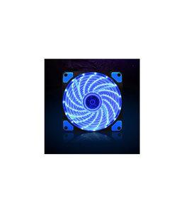 Ventilateur 12cm Bleu 3-PIN MB and 4-PIN PSU