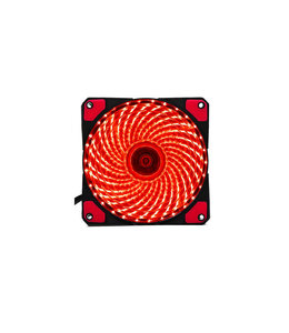 Ventilateur 12cm Rouge 3-PIN MB and 4-PIN PSU
