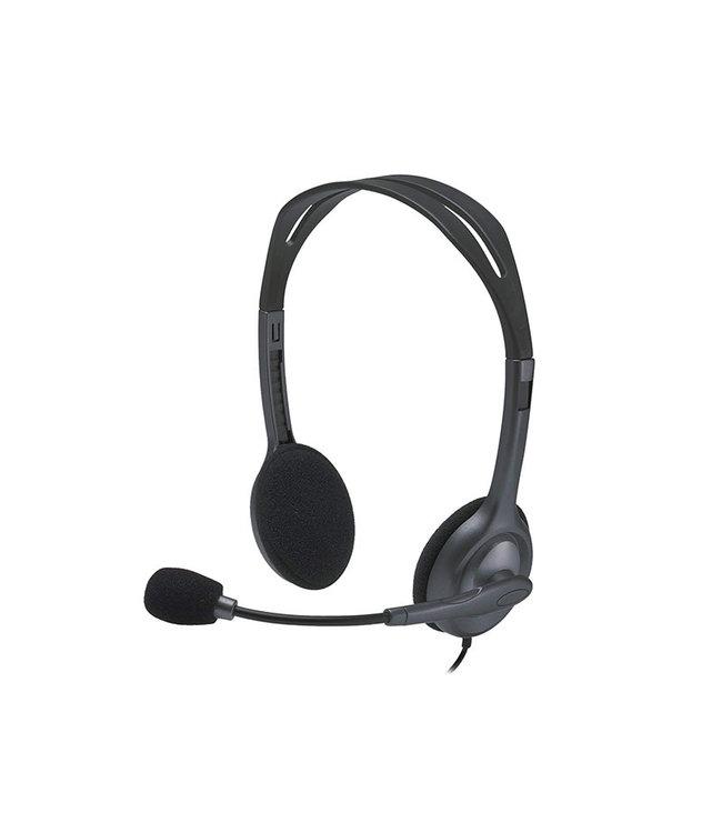 Logitech Casque d'écoute avec Mic  Logitech H111 3.5mm plug