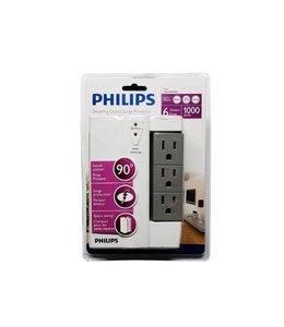 Philips Philips  Protection contre les surtensions articulées 6 sorties Blanc/gris 1000 joules
