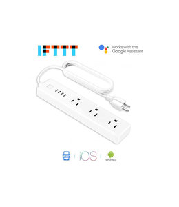 MEROSS Meross 3-Outlet / 4-USB Port Smart Wi-Fi Surge Protector