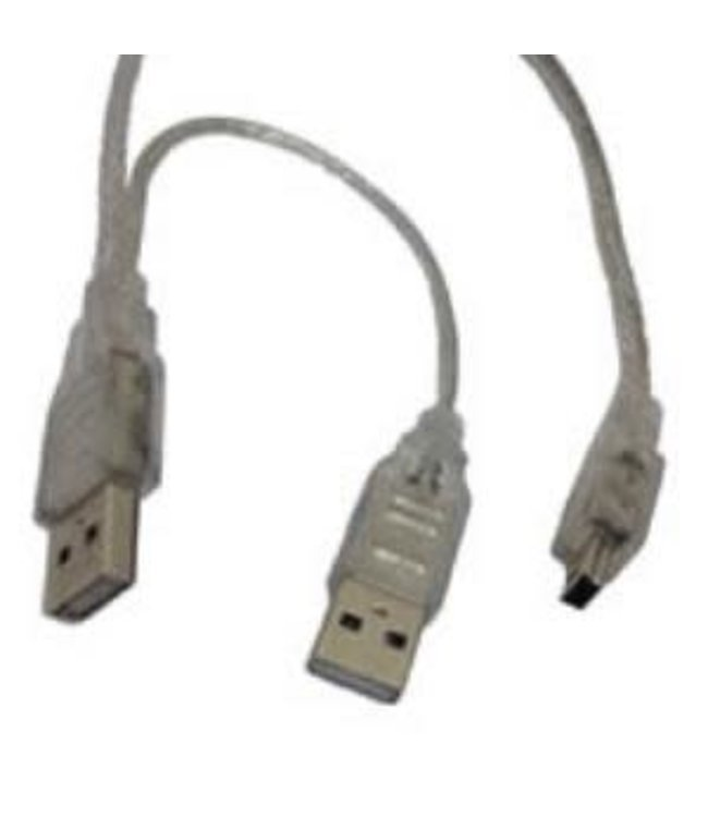 Cable  USB 2XAM vers mini USB 2Pi
