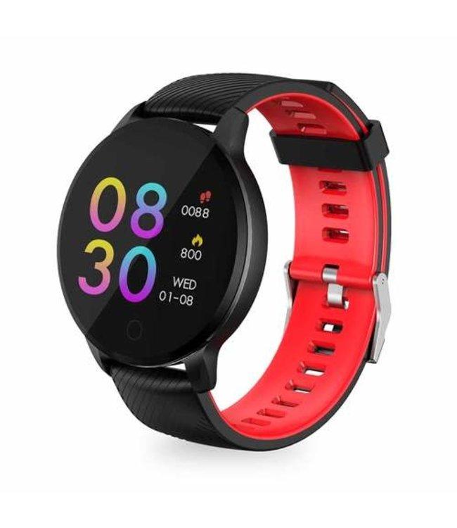 HAVIT H1113A montre intelligente, 1,3 pouces couleur ,  1,3 pouces couleur grand écran tactile de mode rond suivi du sport, forme physique, fréquence cardiaque de santé, oxygène dans le sang, pression artérielle, rappels, étanche