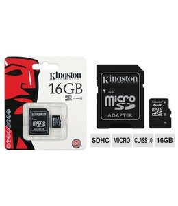 Carte Memoire 16 Go Kingston MicroSD avec Adapteur SD