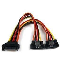 6-Inch Sata Power Y Splitter Cable Adapter-M/F