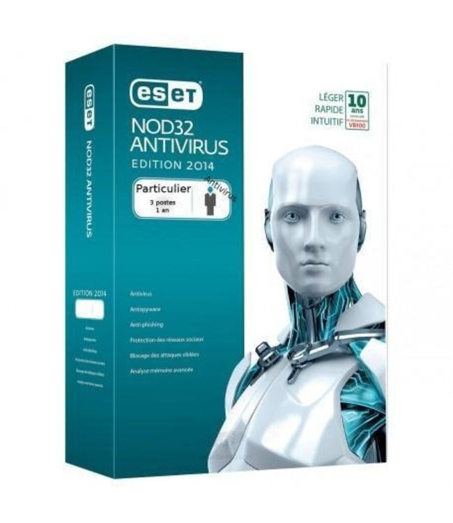 Eset AntiVirus NOD32  1-year subscription for 3 users