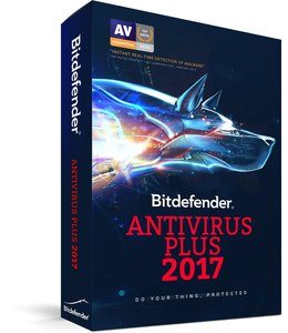 Bitdefender Antivirus Plus 2017  2 Years for 3 Users