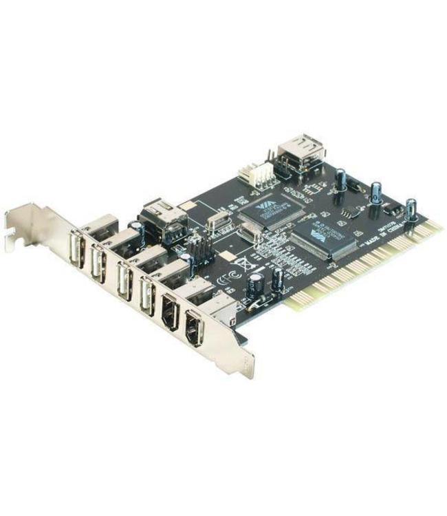 Carte contrôleur USB 2.0 4 ports / FireWire 400 2 ports PCI PowerData