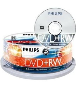 DVD+RW PhillipSs 25 PCS