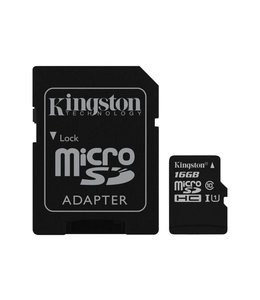 Kingston Canvas Select MicroSDHC+Adaptateur 16Go