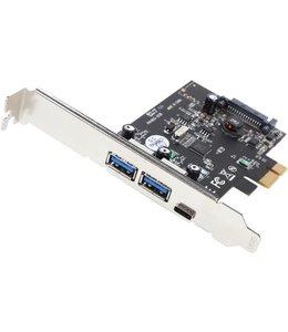 PCIe Card Vantec 2x USB 3.0/1x USB-C UGT-PC331AC