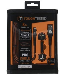 ToughTested USB to Lightning Braided Charge & Sync Cable 6Ft