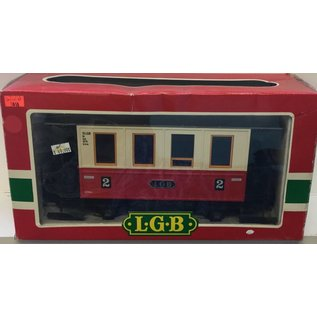 LGB LGB 3011 Passenger Car red/whit