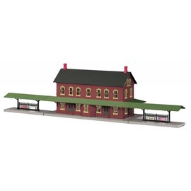 MTH MTH 30-90094 Dark Red Pass. Station
