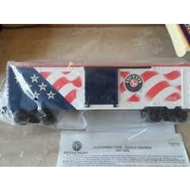 Lionel LIONEL 6-26777  Box Car w flag (stars I'll.)