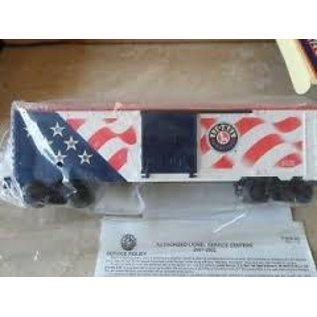 Lionel LIONEL 6-26777  Box Car w flag (stars I'll.)