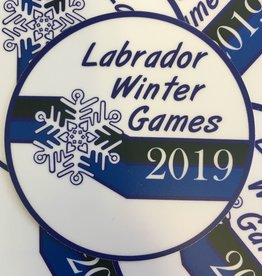Minipi Labrador Winter Games Sticker