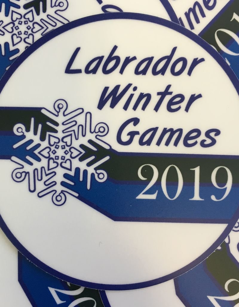 Minipi Labrador Winter Games Sticker