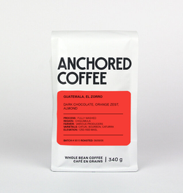 Anchored Coffee. El Zorro Espresso 12oz