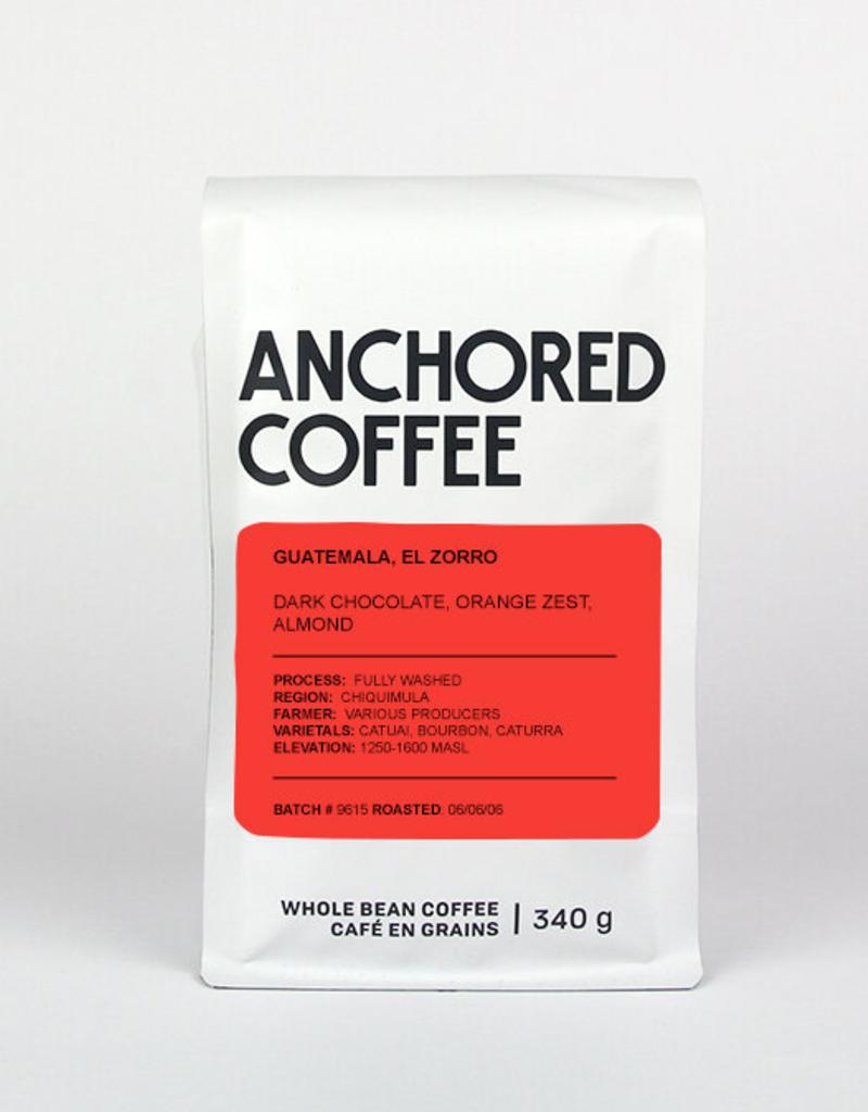 Anchored Coffee. El Zorro Expresso 12oz