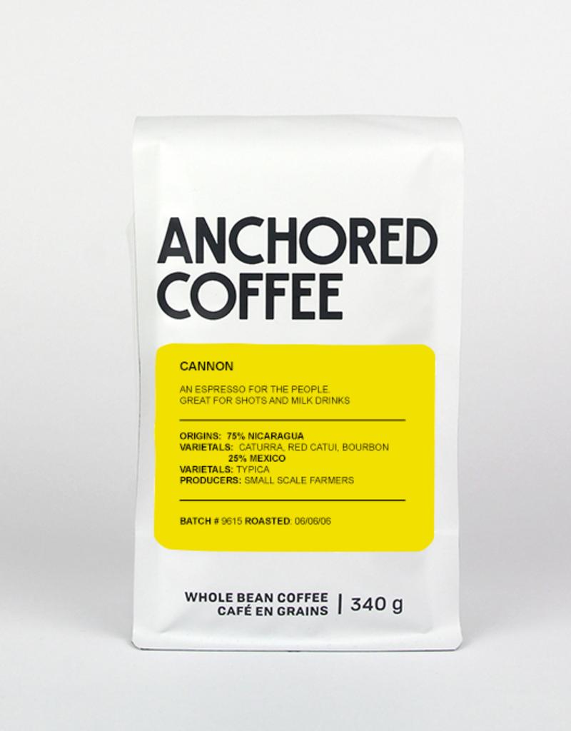 Anchored Coffee. Cannon Expresso 12oz