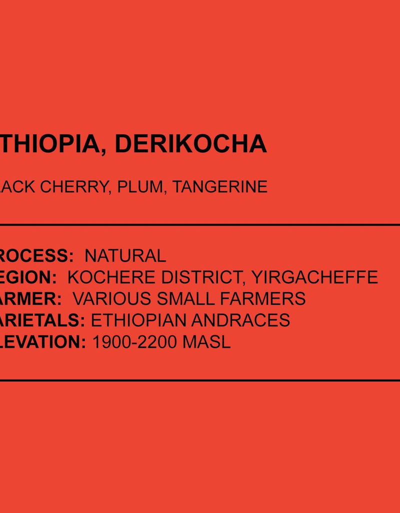 Anchored Coffee. Derikocha Espresso 12 oz