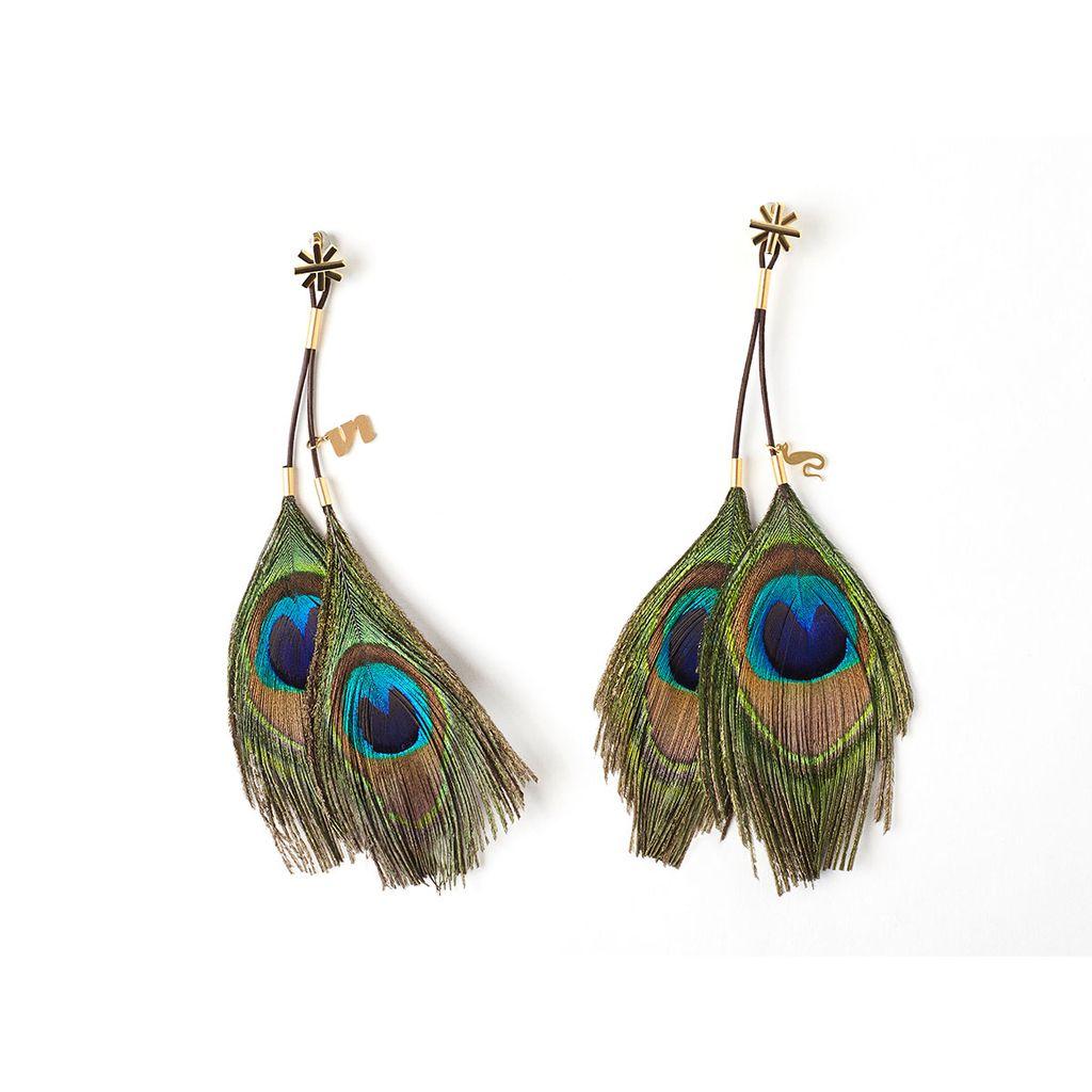 Cleopatra Earring Nipple Clamp Peacock