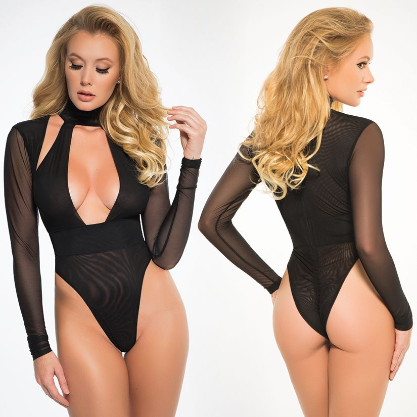 Adore Adore Tia Long Sheer Sleeve Body Suit