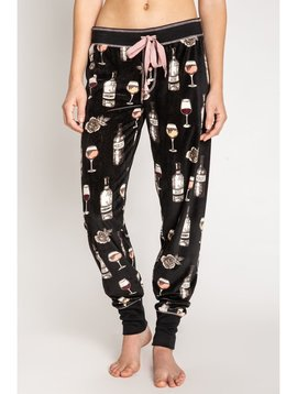 PJ Salvage PJ Salvage Banded Wine Bottles Pant