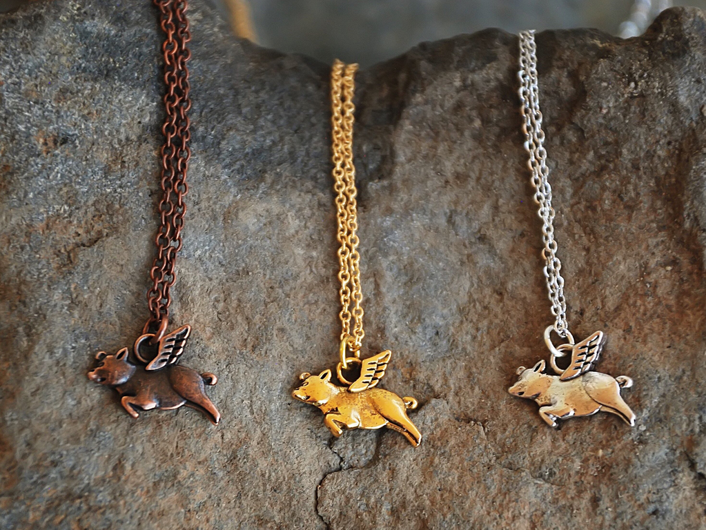 Buffalo Girls Salvage Buffalo Girls Salvage Necklace - When Pigs Fly