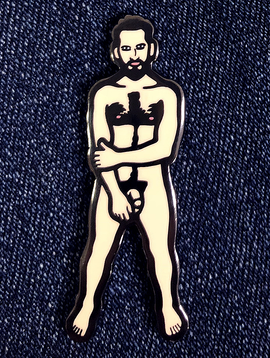Trevor Wayne Trevor Wayne Nude Dude Lapel Pin