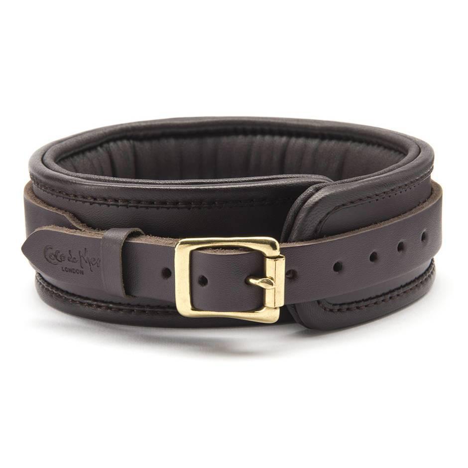 Coco De Mer Coco de Mer Leather Collar, Brown