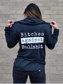 Malicious Women Candle Co Malicious Women Bitches Against Bullshit Long Sleeve Hoodie