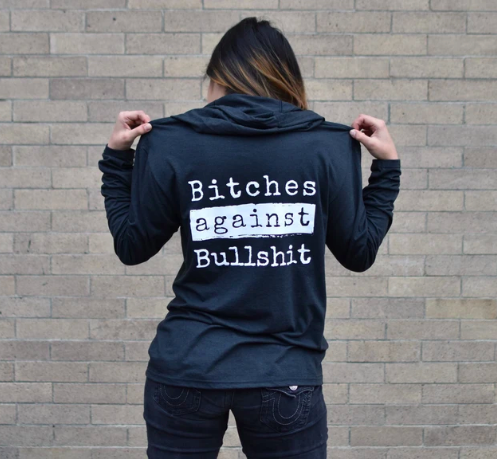 Malicious Women Candle Co Malicious Women Bitches Against Bullshit Long Sleeve Hoodie
