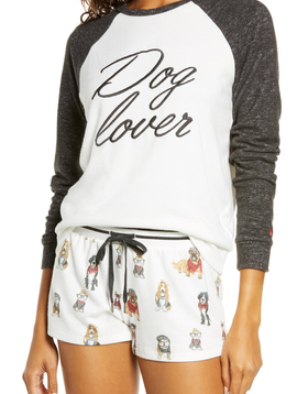 PJ Salvage PJ Salvage Dog Lover Long Sleeve Top