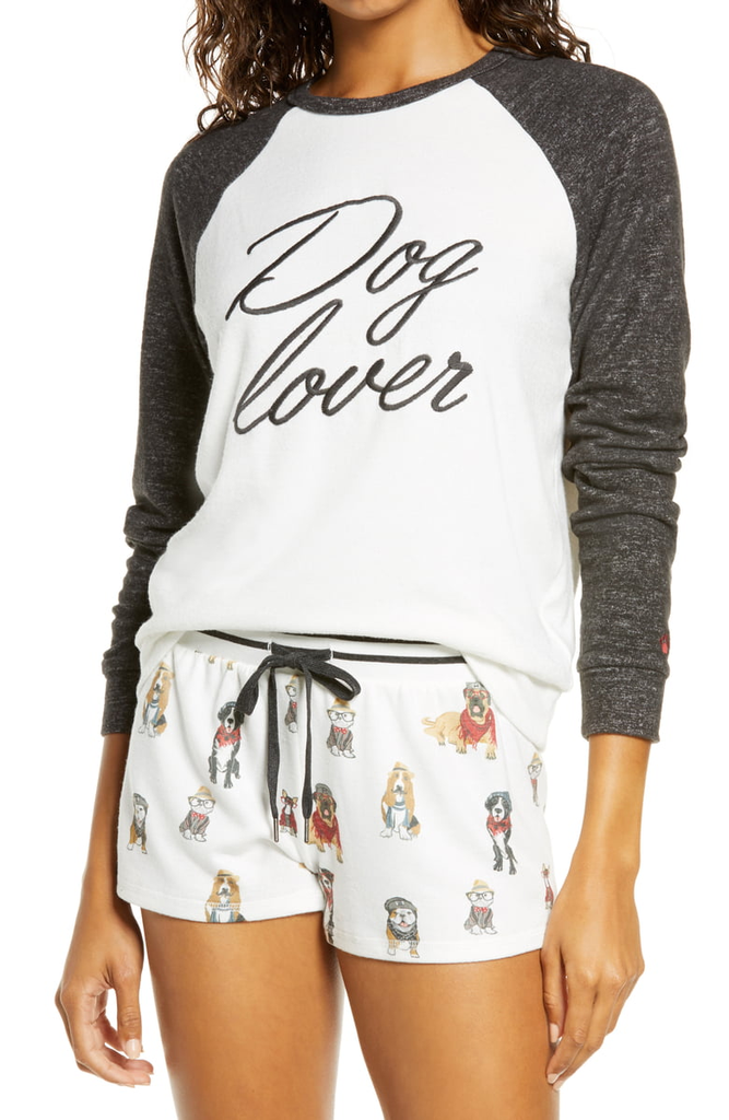 PJ Salvage PJ Salvage Dog Lover Long Sleeve Top