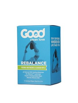 Good Clean Love Good Clean Love Rebalance Cleansing Wipes 12 ct.