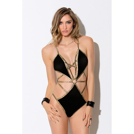 Hauty Hauty Strappy Metallic Teddy