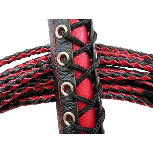 Ruff Doggie Styles Ruff Doggie Styles Flog-HER Corset Flogger Patent Leather Black/Red
