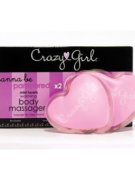 Crazy Girl Crazy Girl Mini Warming Hearts Massager Set