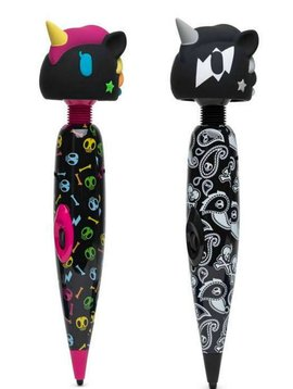 Tokidoki Tokidoki Multispeed Unicorn Massage Wand Vibrator - Black w/ Color