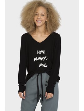 Peace Love World Peace Love World V-Neck Comfy Top